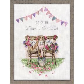 Набор для вышивания Design Works 2993 Wedding Chairs фото