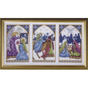 Набор для вышивания Design Works 5436 Nativity Windows фото