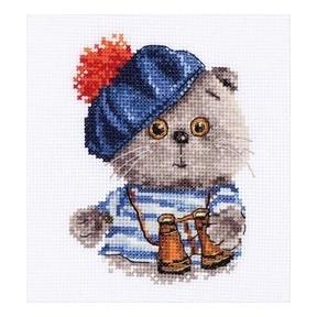 Набор для вышивки крестом Алиса 0-190 Басик моряк фото