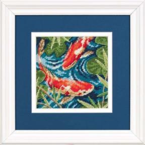 Набор для вышивки гобелен Dimensions 07214 Koi Pond фото
