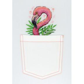 Набор для вышивки крестом МП Студия В-248 Розовый фламинго