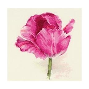 Набор для вышивки крестом Алиса 2-43 Тюльпаны. Малиновое сияние