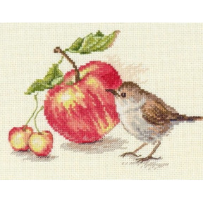 Набор для вышивки крестом Алиса 5-22 Птичка и яблоко фото