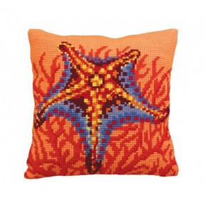 """Подушка для вышивания крестом Collection D'Art 5147 """"Coral"""