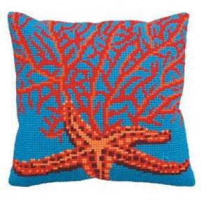 """Подушка для вышивания крестом Collection D'Art 5148 """"Red"""