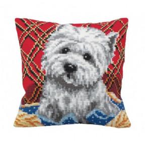 """Подушка для вышивания крестом Collection D'Art 5161 """"Cute Puppy"""