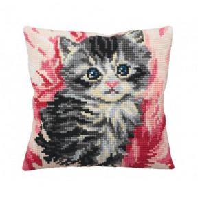 """Подушка для вышивания крестом Collection D'Art 5164 """"Cute"""