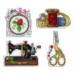 Набор для вышивки крестом МП Студия Р-339 Рукодельные магниты
