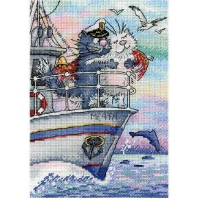 Набор для вышивки крестом МП Студия НВ-686 Море любви фото