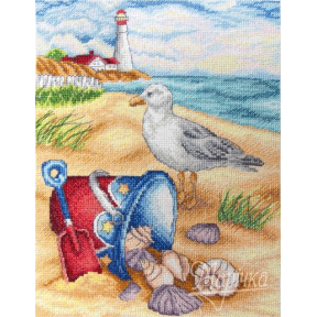 Набор для вышивания крестиком Марічка НКА-011 На пляже фото