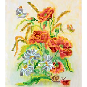 Схема для вышивания бисером Абрис Арт АС-002 Букет