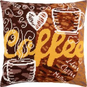 Набор для вышивки подушки Чарівниця V-231 Кофе