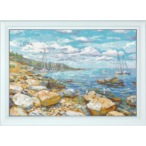 Набор для вышивки крестом Овен 1177 Крымский берег фото