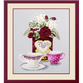 Набор для вышивки крестом и лентами Овен 469 Чайная фантазия 2