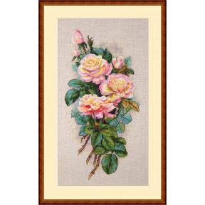 Набор для вышивания крестом Мережка Винтажные розы К-67