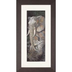 """Набор для вышивания Lanarte PN-0008232 Protective Care """"Слоны"""""""