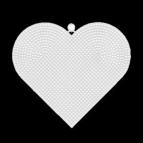 Канва пластиковая Гамма KPL-04 сердце фото