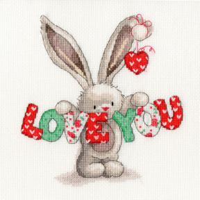 Набор для вышивания крестом Bothy Threads XBB9 Bebunni Love You