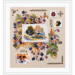 Набор для вышивания крестом Мережка Осенний семплер К-131