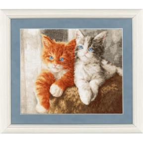 Набор для вышивки крестом Золотое Руно НЛ-047 Пушистые котята