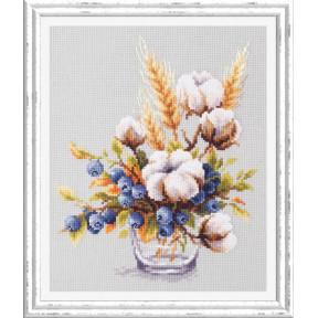 Набор для вышивки крестом Чудесная игла  100-013 Хлопок и черника