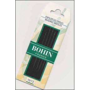 Набор бисерных игл Beading №10/12 (4шт) Bohin (Франция) 01125