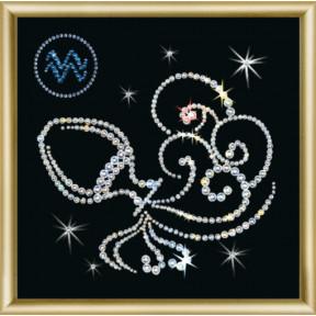 Набор для изготовления картины со стразами Чарівна Мить Знак зодиака Водолей КС-011