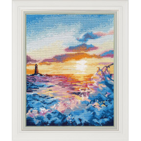 Набор для вышивки крестом Овен  Закат на море 1182