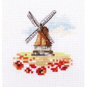 """Набор для вышивки крестом Алиса """"Мельница в маковом поле""""  0-197"""