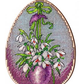 Набор для вышивки крестом Alisena Пасхальная -кролик – с подвеской 5506-Б