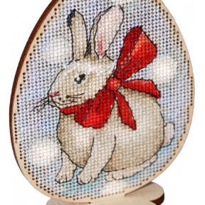 Набор для вышивки крестом Alisena Пасхальная -подснежники – на подставке 5507-А