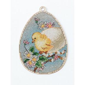 Набор для вышивки крестом Alisena Пасхальная -цыпленок – с подвеской 5510-Б