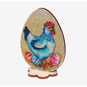 Набор для вышивки крестом Alisena Пасхальная -цыпленок– на подставке 5511-А