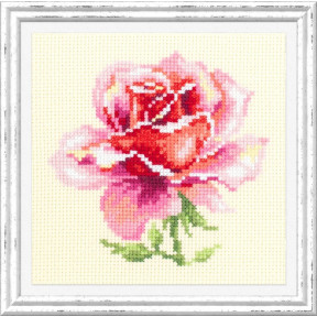 Набор для вышивки крестом Чудесная игла Розовая роза 150-002