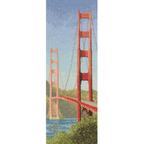 Схема для вышивания Heritage Crafts Golden Gate Bridge HC707