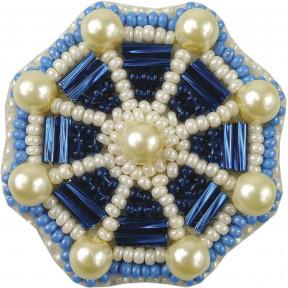 """Набор для изготовления броши Crystal Art """"Штурвал"""" БП-207"""