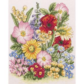 Набор для вышивания Anchor Meadow Flowers PCE961
