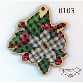 """Набор для вышивки крестом на деревянной основе ФрузелОк """"Цвет"""