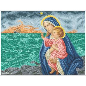 Набор Для Вышивания Бисером БС Солес Богородица с Иисусом