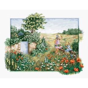 Набор для вышивки крестом Luca-S Цветущий сад BU4012