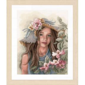 """Набор для вышивания Lanarte  Little girl with hat """"Маленькая девочка в шляпе"""" PN-0169325"""