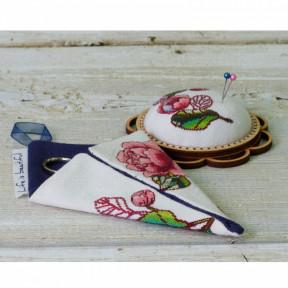 """Набор для креативного рукоделия Lifeisbeautiful """"Чехол для ножниц малый белый """"Цветы"""" ТК-0109"""