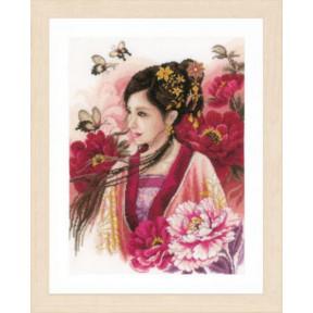 """Набор для вышивания Lanarte  Asian lady in pink """"Азиатская девушка в розовом"""" PN-0170199"""