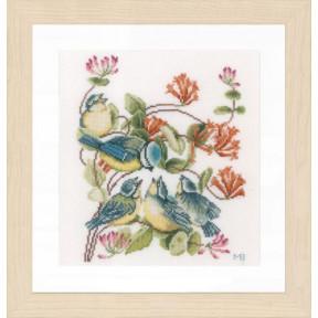 """Набор для вышивания Lanarte  Chickadees """"Синички"""" PN-0170949"""