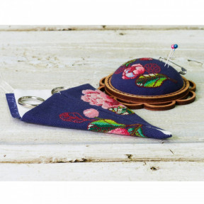 """Набор для креативного рукоделия Lifeisbeautiful """"Чехол для ножниц малый синий """"Цветы"""" ТК-0110"""