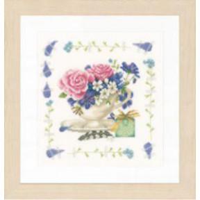 """Набор для вышивания Lanarte  Bouquet of roses """"Букет роз"""" PN-0170950"""