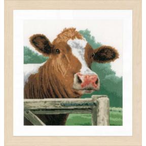 """Набор для вышивания Lanarte  Wondering Cow """"Интересная корова"""" PN-0170989"""