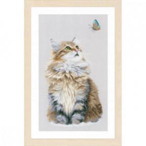 """Набор для вышивания Lanarte Forest cat """"Лесной кот"""" PN-0171041"""