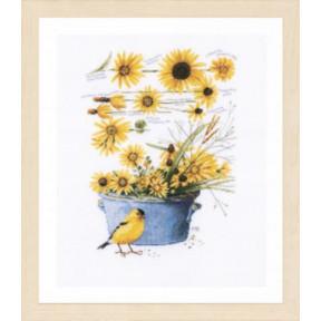 """Набор для вышивания Lanarte Helianthus sunflowers """"Подсолнухи"""" PN-0172914"""