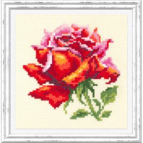 """Набор для вышивки крестом Чудесная игла """"Красная роза"""" 150-003"""